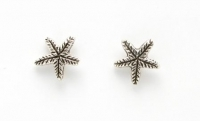 S69 Silver Starfish studs