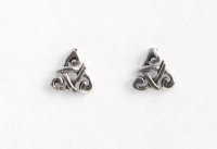 S72 Silver celtic studs