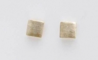 S86 Brushed silver square studs