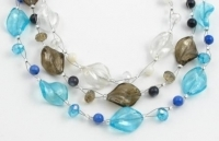 SHN18 Handmade glass bead necklace