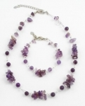 SHN19 Gemstone chip necklace