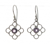 Silver Amethyst earrings UCE1