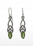 Silver Celtic Peridot Earrings
