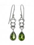 Silver Peridot earrings
