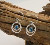 UCE9 Blue Topaz Silver Earrings
