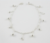 A21 Silver dolphin anklet