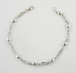 A29 Silver hearts anklet