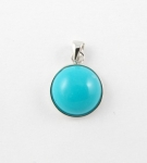 AG22 silver turquoise pendant