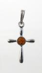 AP13 Silver Baltic Amber Pendant
