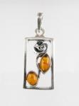 AP15 Silver Baltic Amber Pendant