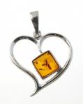 AP3 Silver Baltic Amber Pendant