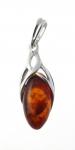 AP7 Silver Baltic Amber Pendant