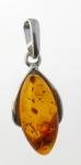 AP8 Silver Baltic Amber Pendant