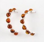 AS7 Silver Amber Studs
