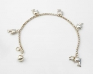 B20 hanging dolphin bracelet with bell