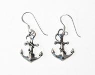 E102 Silver Anchor Earrings