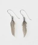 E105 Silver Feather Earrings