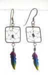 E106 Dreamcatcher earrings
