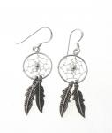 E107 Dreamcatcher earrings