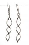 E112 Silver spiral earrings