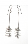 E117 Spiral drop earrings