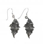 E120 Silver leaf earrings