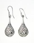 E124 flower drop earrings