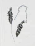 E164 Feather Chain Earrings