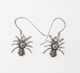 E33 Silver Spider Earrings