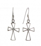 E41 cross earrings