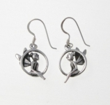 E6 silver tinkerbell earrings
