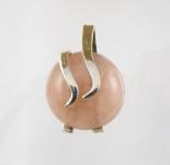 GP25 Silver rose quartz pendant WAS: £30.00