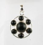 GP27 Silver black onyx pendant WAS: £32.00