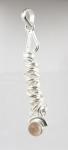 GP28 Silver rose quartz pendant WAS: £26.00
