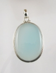 GP29L Silver blue chalcedony pendant