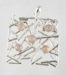 GP12 Silver random gemstone pendant WAS £51.50