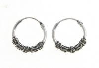 H18 Silver balinese hoops