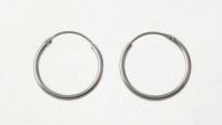 H28 Sterling Silver hoops