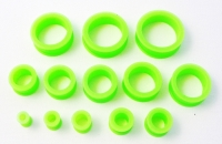 Lime Green Silicon Tunnel 6mm-30mm