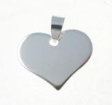 P374 Solid Flat Heart Pendant