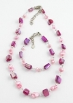 SHA8 freshwater pearl and shell anklet