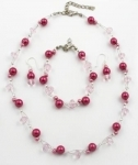 SHB1 Simulated pearl and glass crystal bracelet