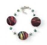 SHB24 Animal print shell bracelet