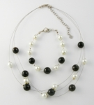 SHB26 Simulated pearl and glass bracelet