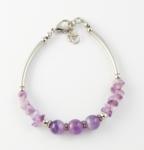 SHB27a Amethyst bracelet