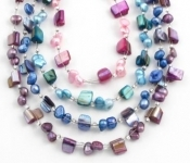 SHB8 freshwater pearl and shell necklace