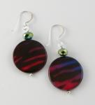 SHE24 Animal print earrings silver hooks