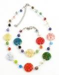 SHN14 Murano glass necklace