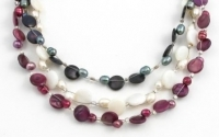 SHN16 Freshwater pearl and shell necklace