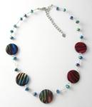 SHN24 Animal print shell necklace